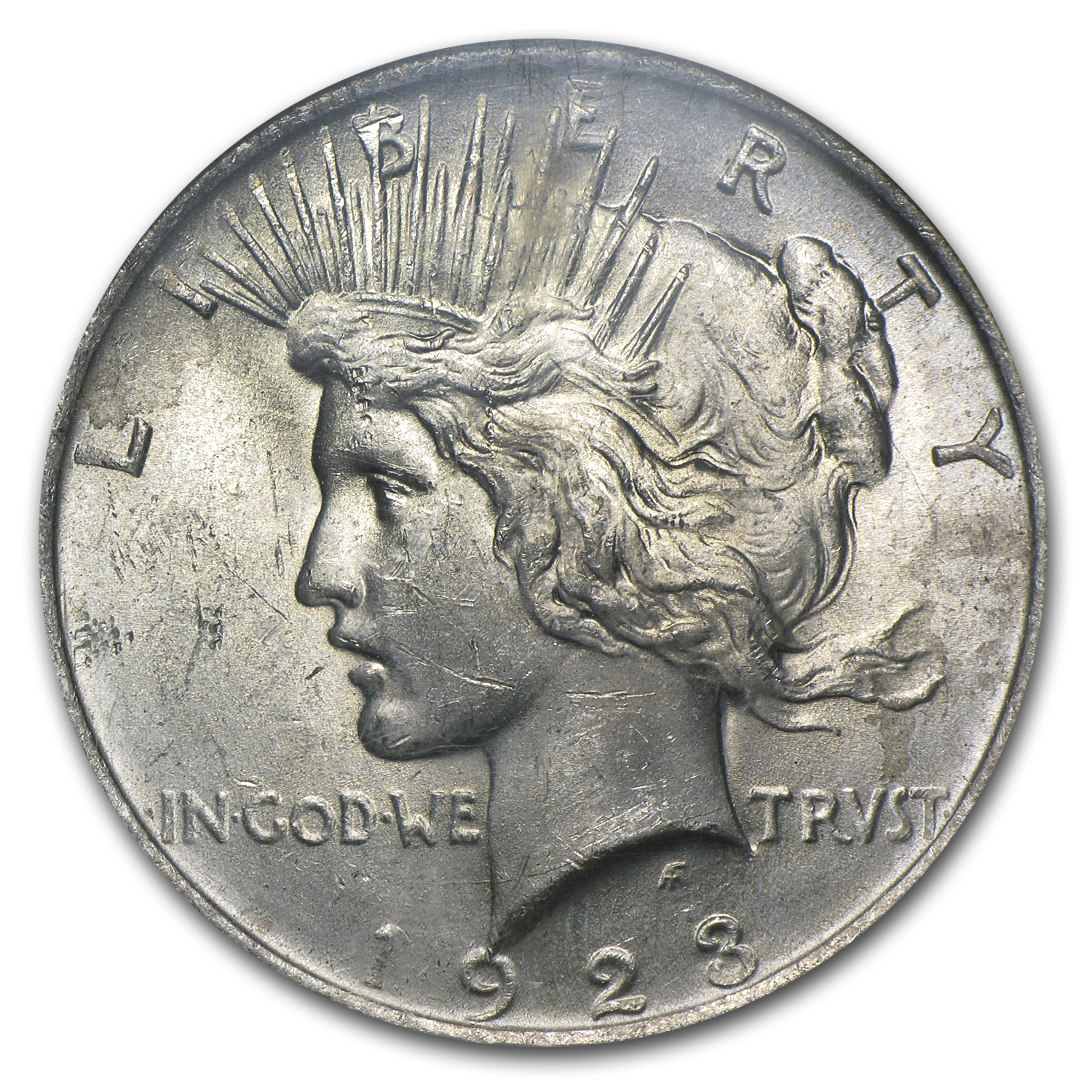 1923 Peace Dollar Uncirculated NGC - Binion Collection