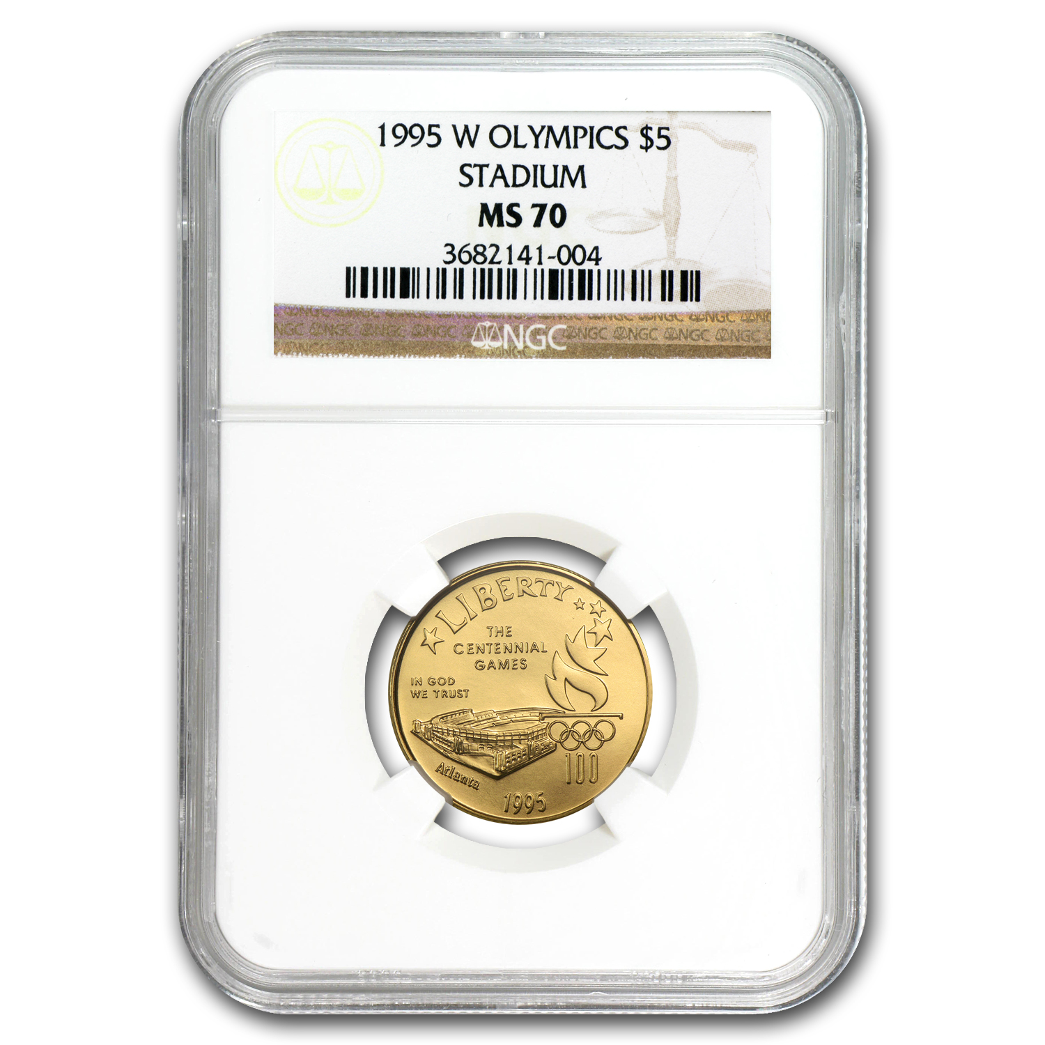 1995-W Gold $5 Commem Olympic Stadium MS-70 NGC