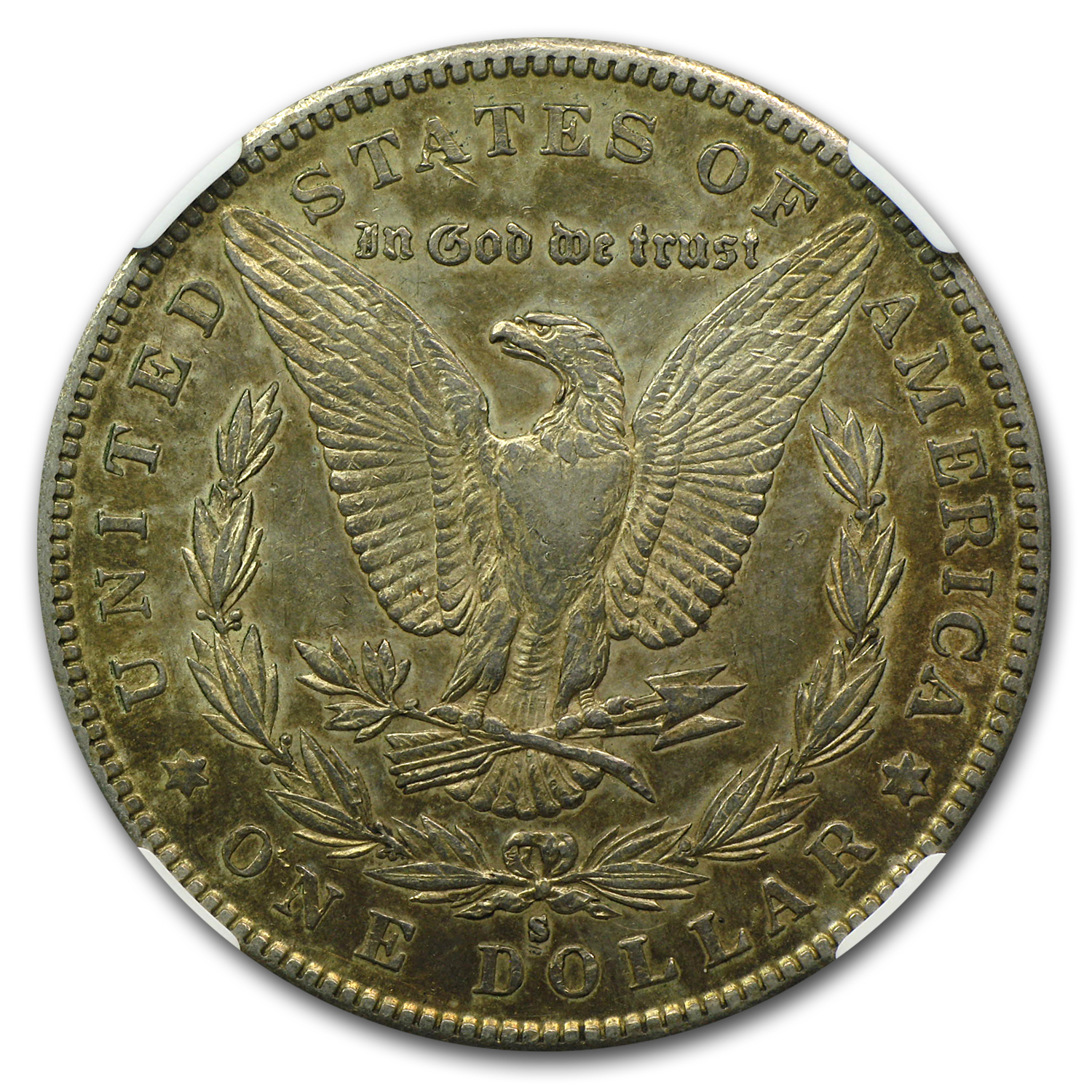 1886-S Morgan Dollar AU-50 NGC
