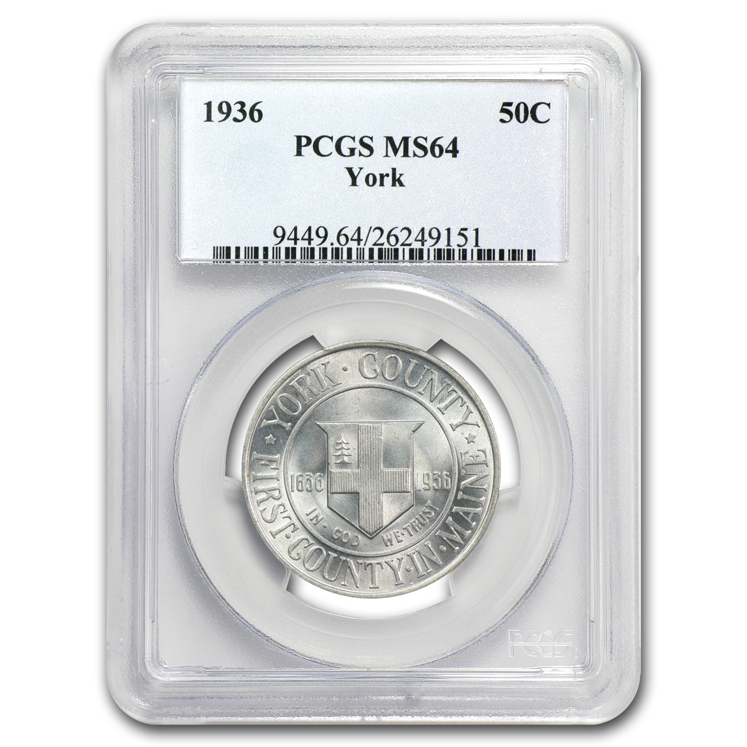1936 York County, Maine MS-64 PCGS