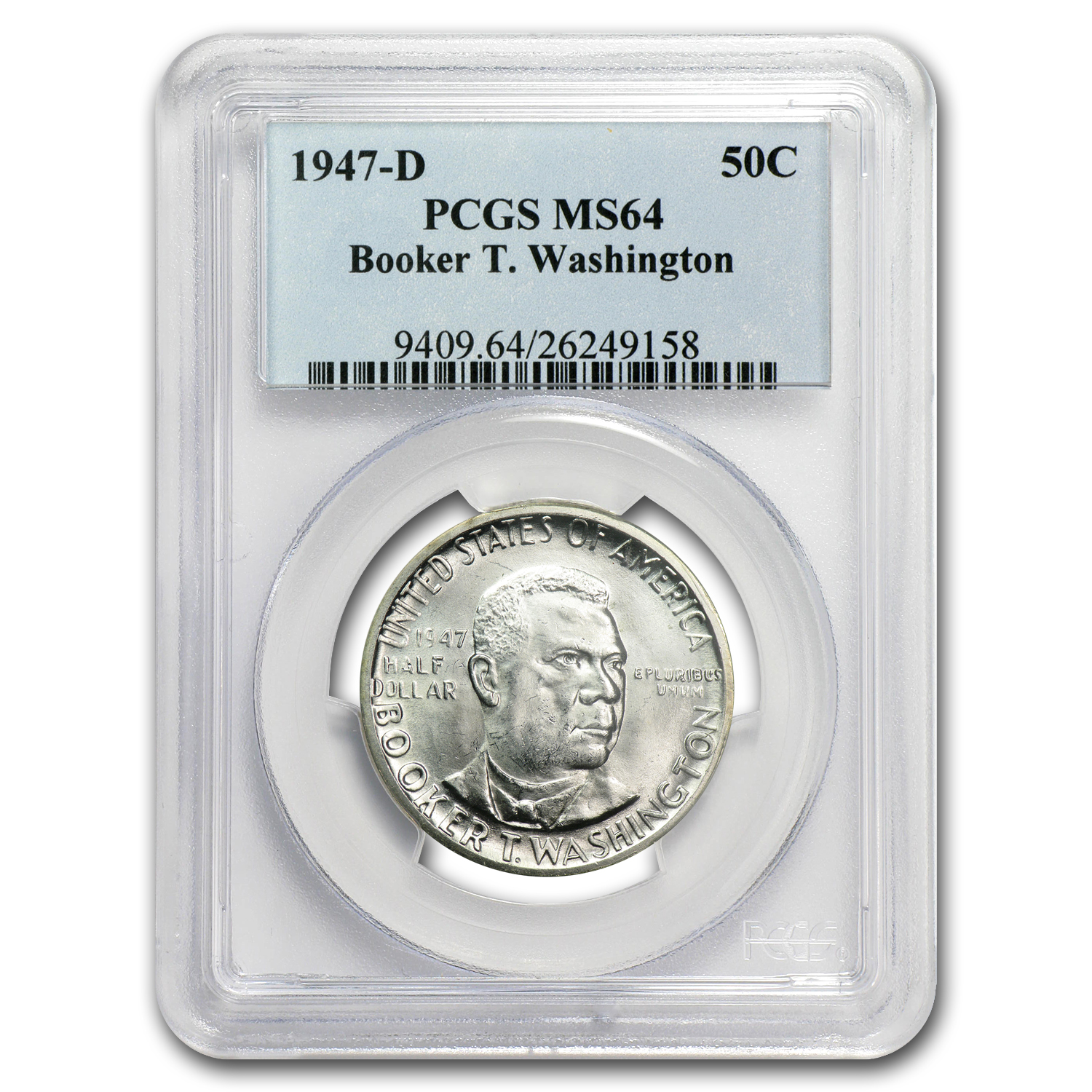 1947-D Booker T. Washington MS-64 PCGS