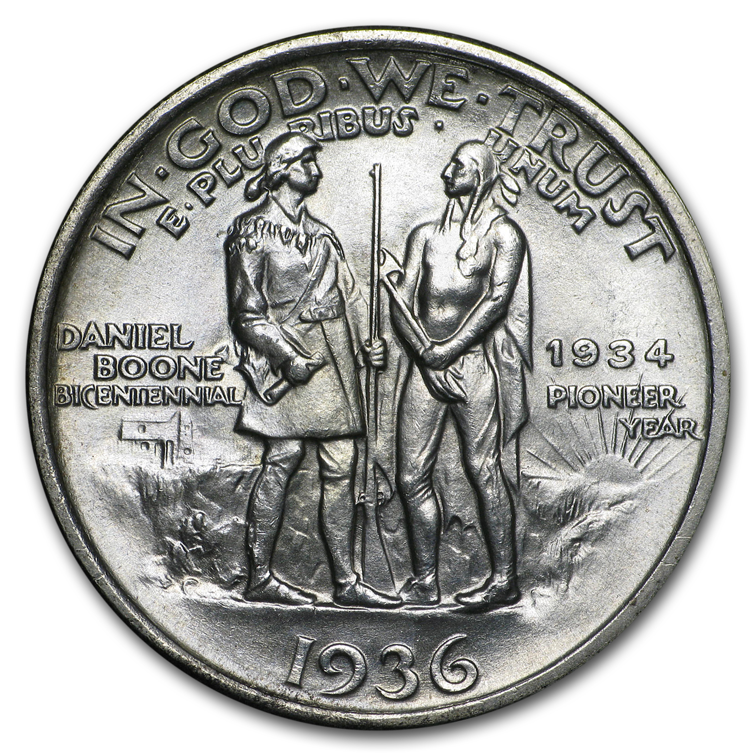 1936 Boone Commemorative Half BU