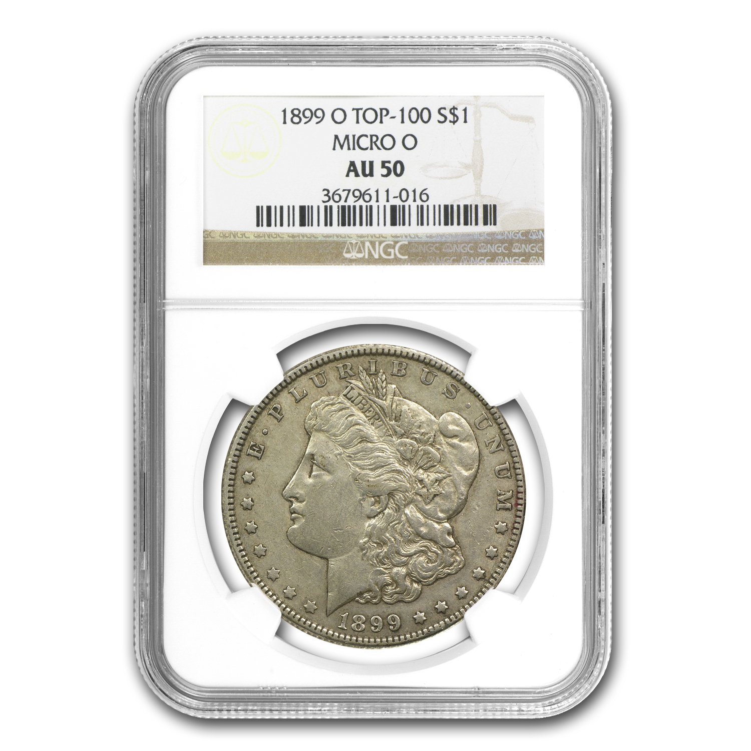 1899-O Morgan Dollar Almost Uncirculated-50 NGC Micro O Top-100