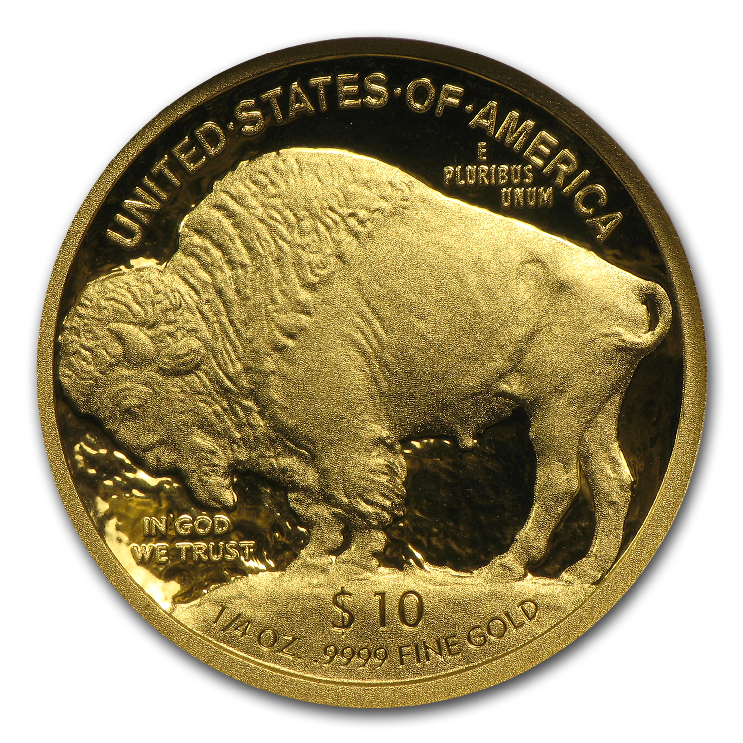 2008-W 1/4 oz Proof Gold Buffalo PF-70 NGC (First Year of Issue)