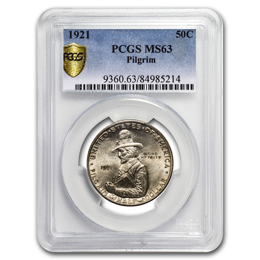 1921 Pilgrim Tercentenary Half Dollar MS-63 PCGS (Conical Hat)