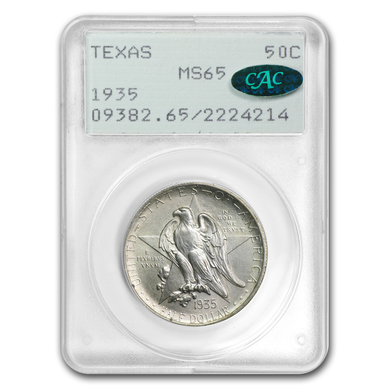 1935 Texas Centennial - Old Rattler Holder MS-65 PCGS - CAC