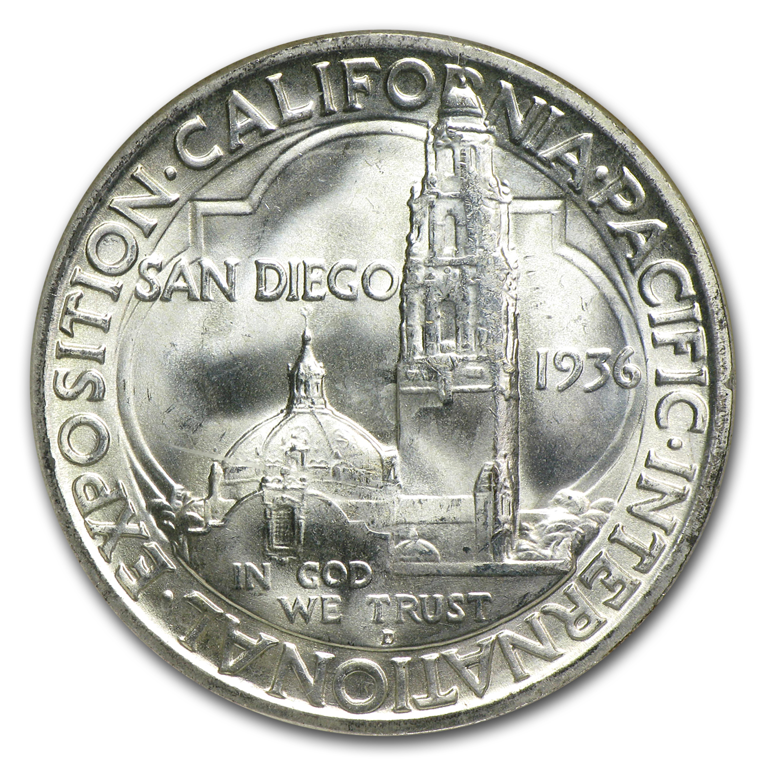 1936-D San Diego Exposition MS-64 NGC