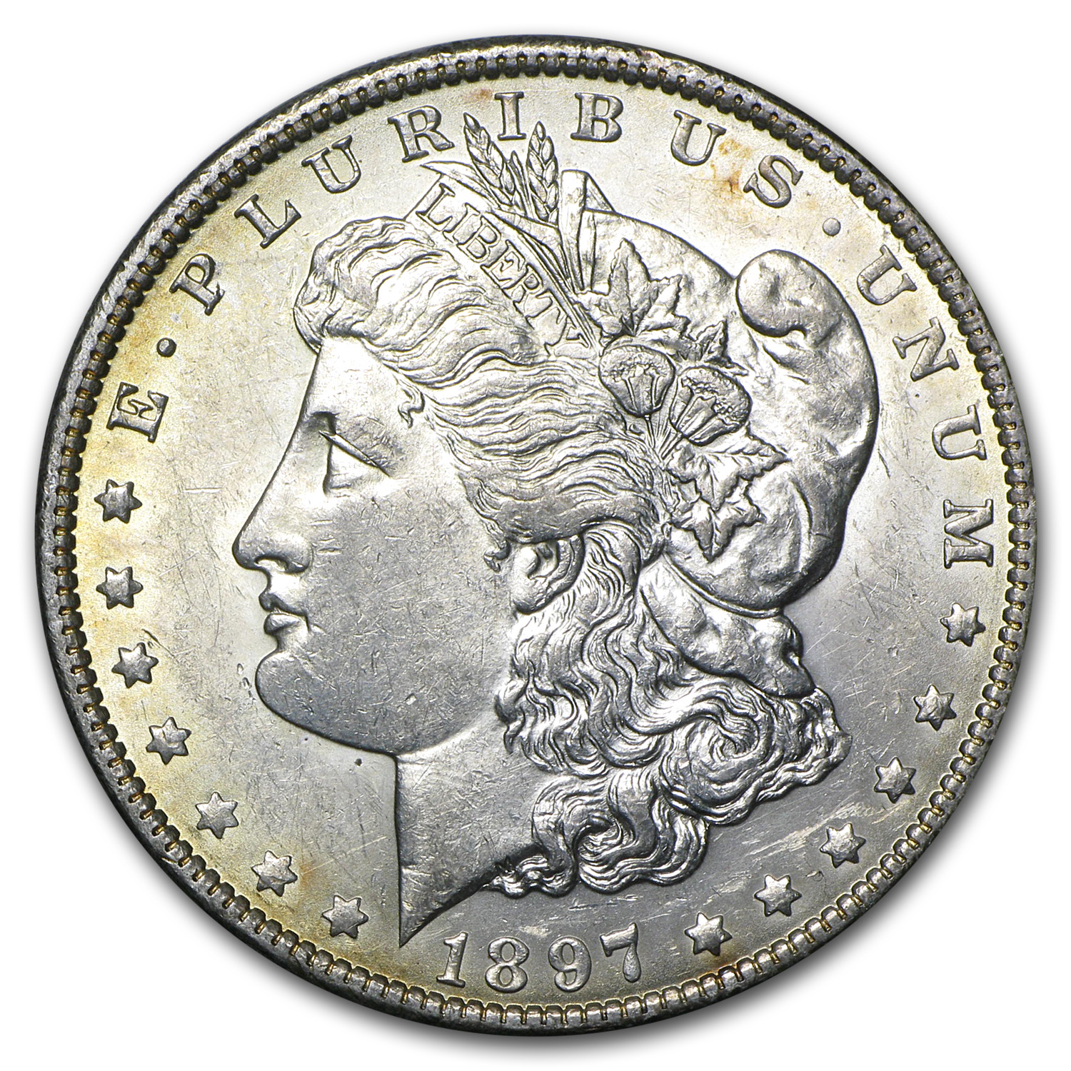 1897-O Morgan Dollar - Almost Uncirculated-58