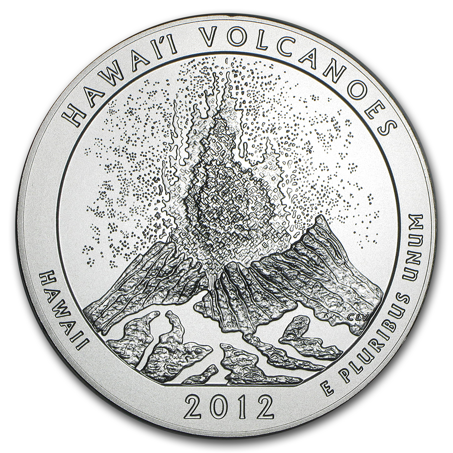 2012-P 5 oz Silver ATB Hawaii Volcanoes (w/Box & COA)