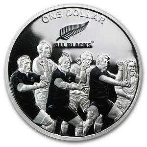 2011 New Zealand 1 oz Silver All Blacks Silver The Haka Proof