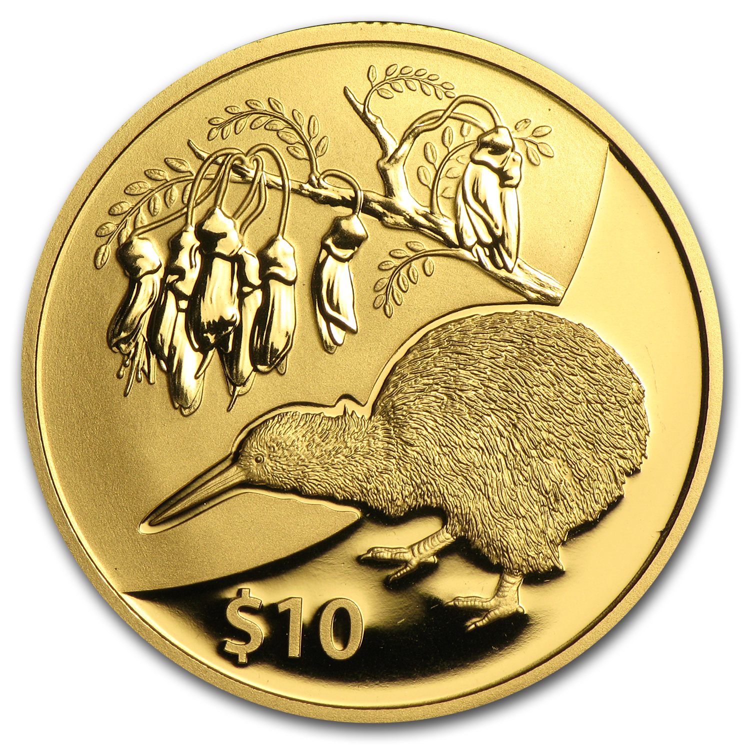 2012 1/4 oz Gold New Zealand $10 Treasures Kowhai Proof