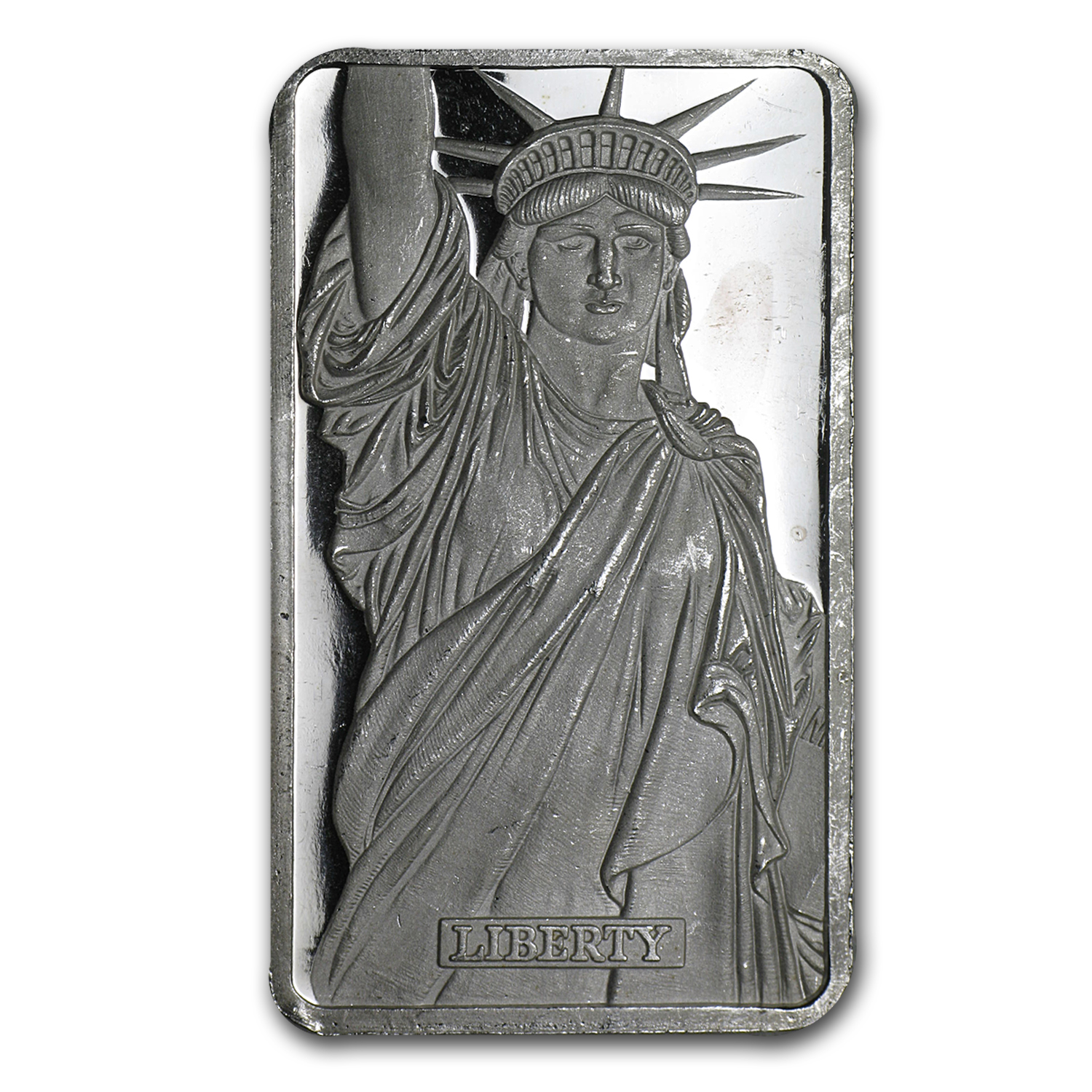 1 oz Silver Bar - Johnson Matthey (Statue of Liberty/MA)