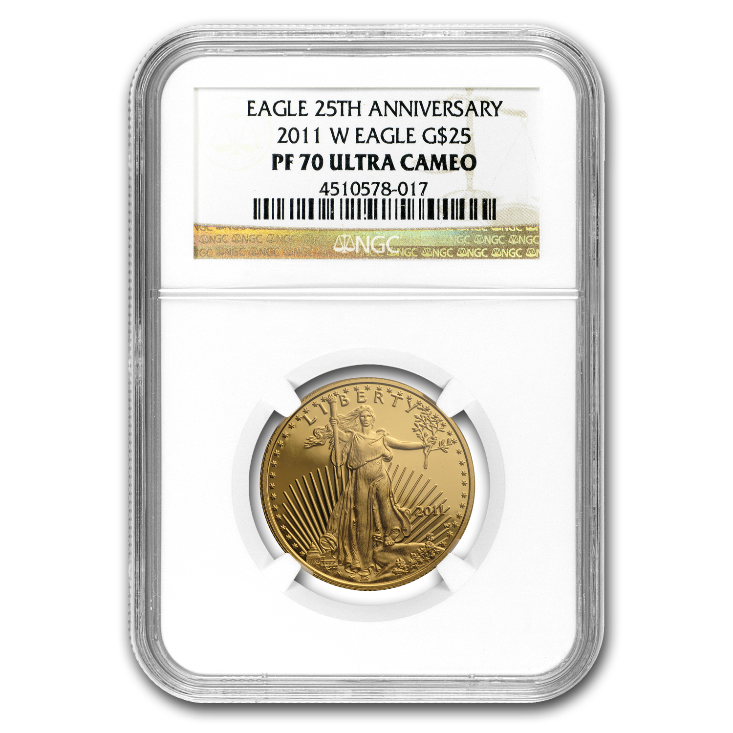 2011-W 4-Coin Proof Gold American Eagle PF-70 NGC Registry Set