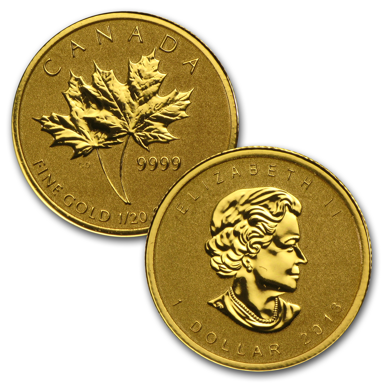 2013 4-Coin Gold Canadian Fractional Maple Leaf Set (1.4 oz)