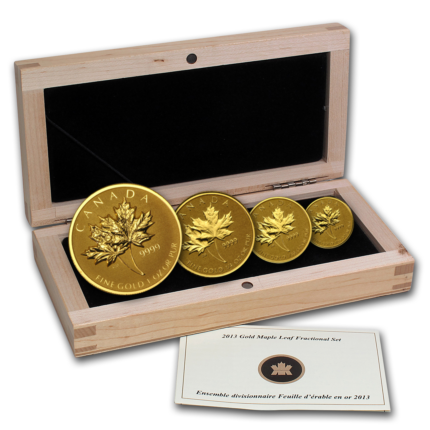 2013 Canada 4-Coin Reverse Proof Gold Maple Leaf Set (1.4 oz)