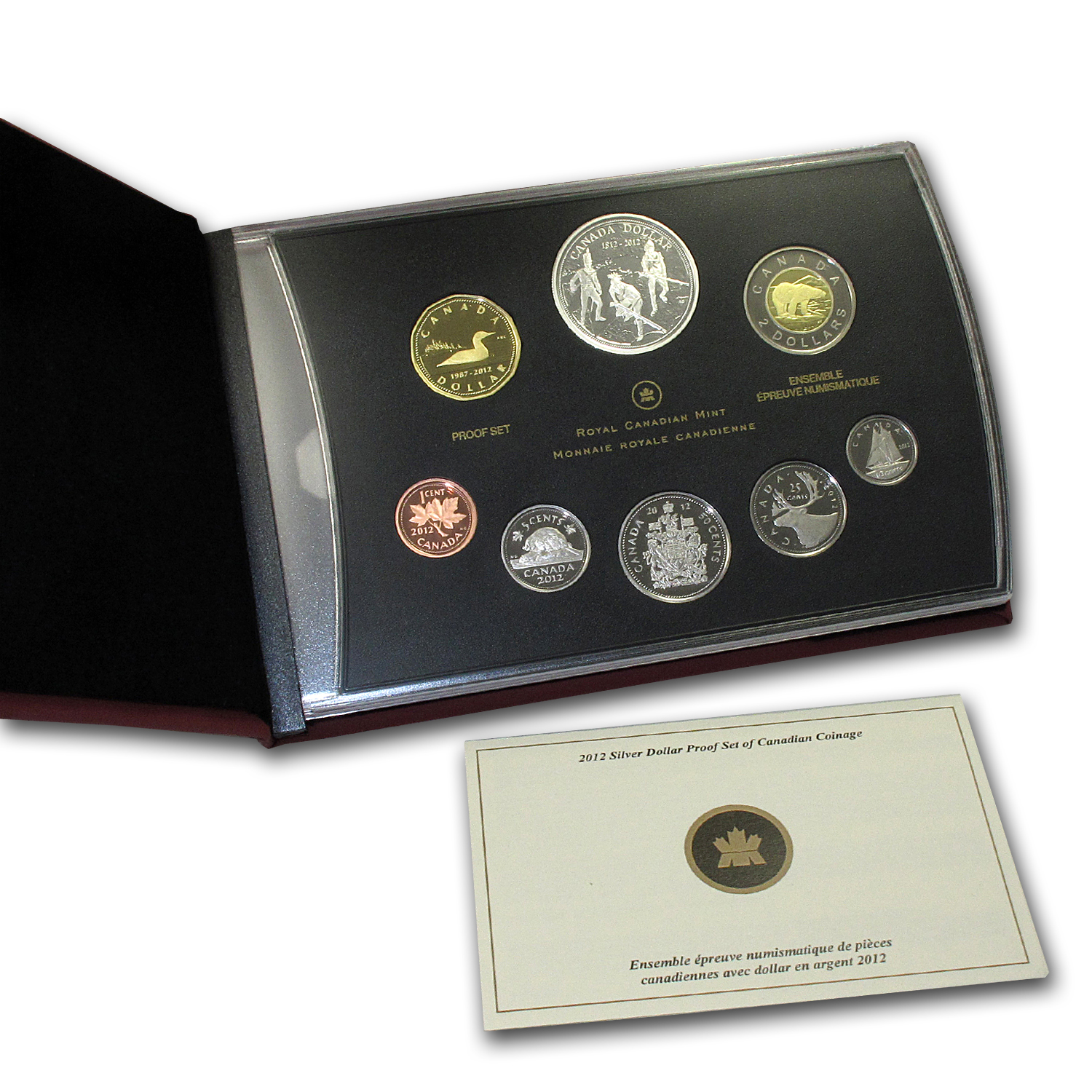 2012 8-Coin Silver Dollar Canadian War of 1812 Proof Set