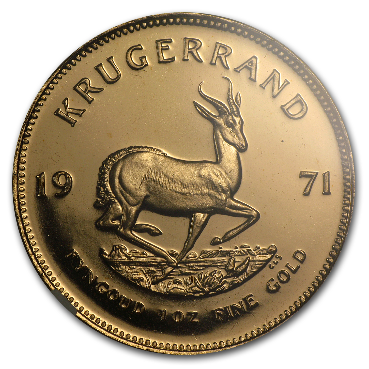 1971 1 oz Gold South African Krugerrand PF-66 UCAM NGC