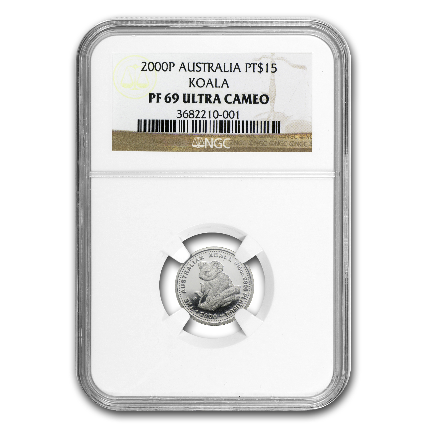 2000 Australia 1/10 oz Proof Platinum Koala PF-69 NGC