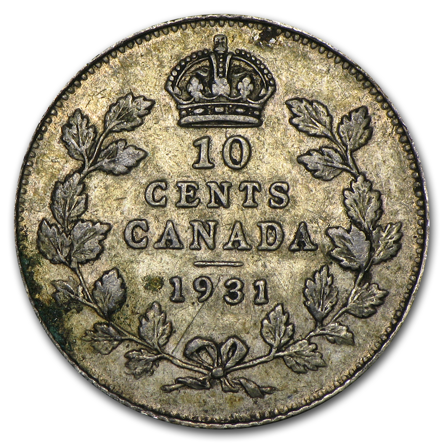 1931 Canada 10 Cents XF