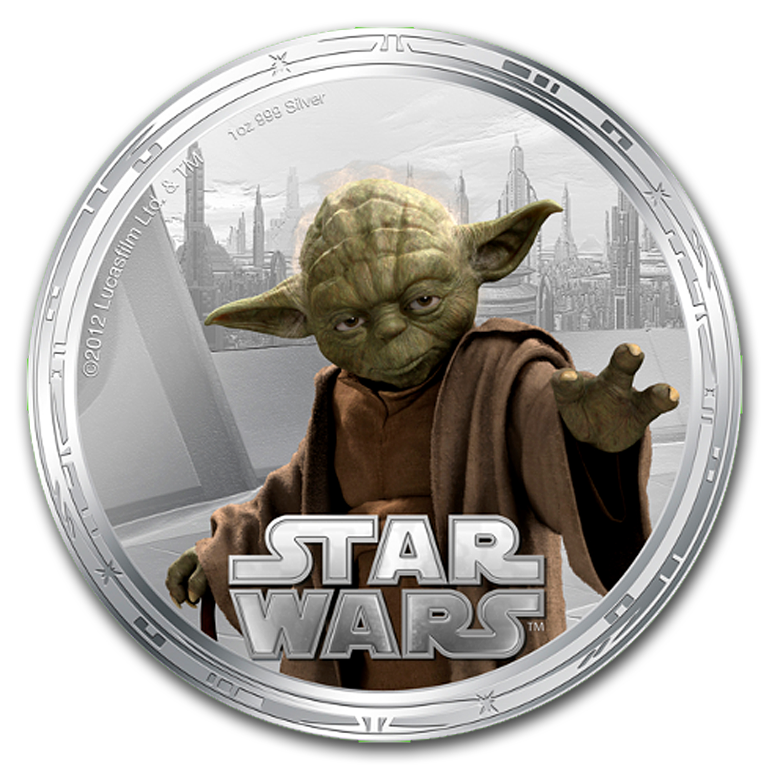 2012 Star Wars 2nd Series Coin Set 4 x Silver & 4 x Gold Plated
