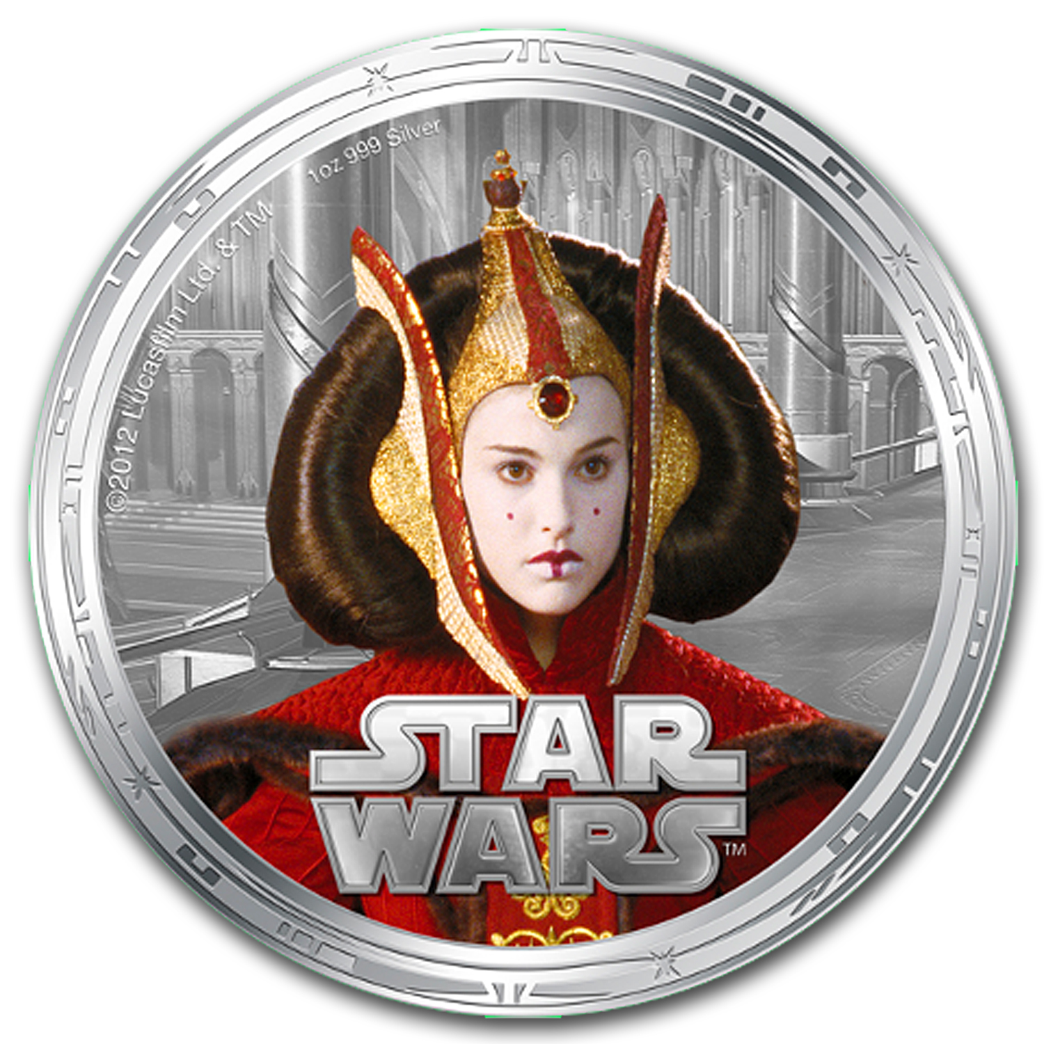 2012 8-Coin 4x Silver & 4x Gold Plated Star Wars Set (Series 2)