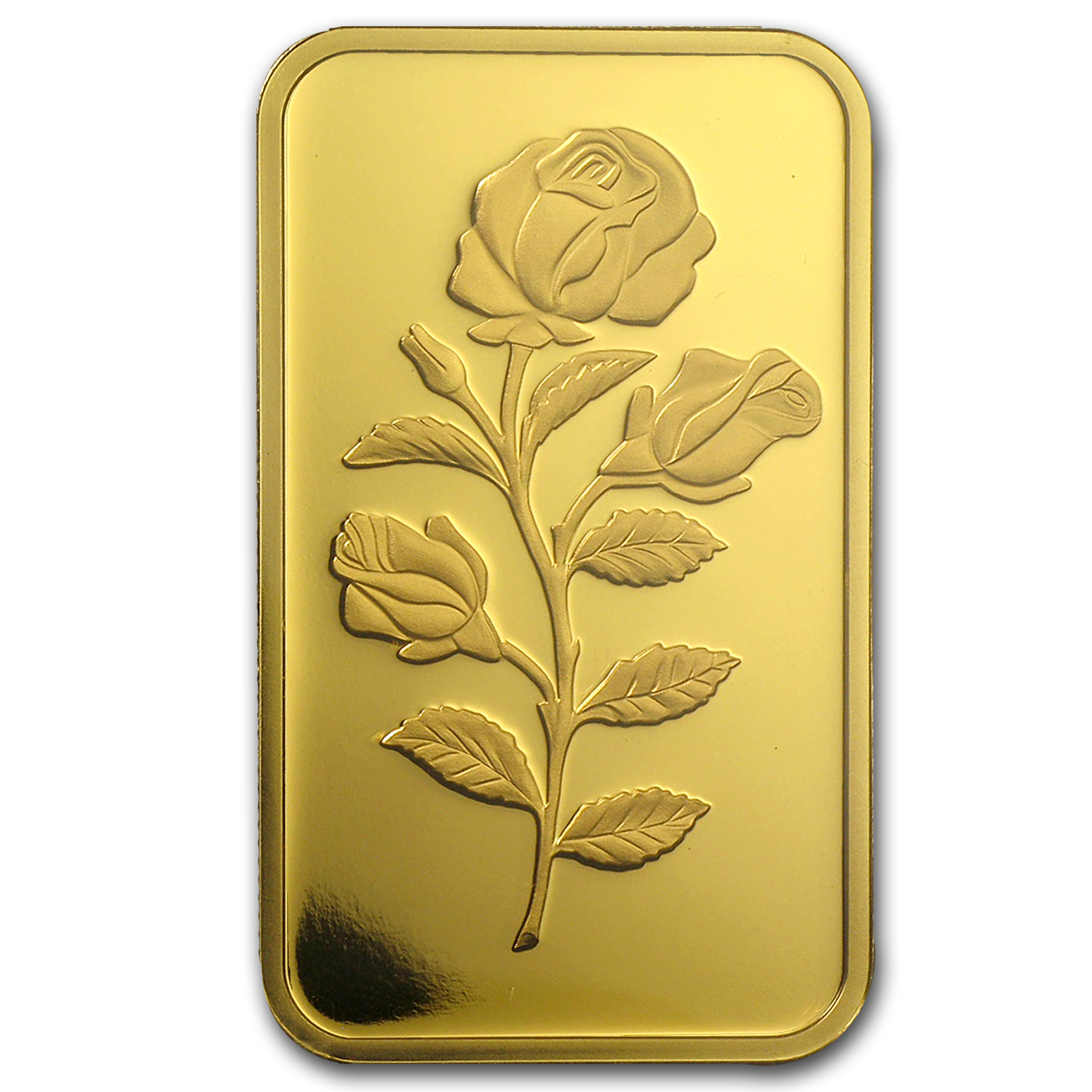 1 oz Gold Bars - Pamp Suisse (Rose, w/o Assay)