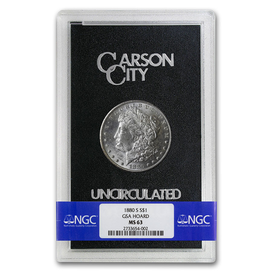 1880-S Morgan Dollar MS-63 NGC (GSA Certified)