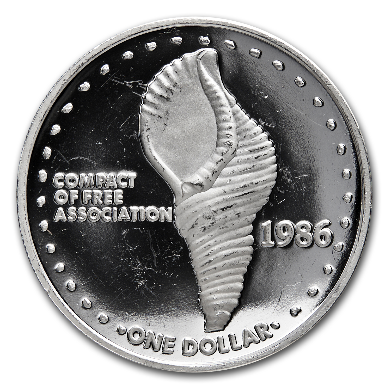 1986 Marshall Islands Silver One Dollar Proof