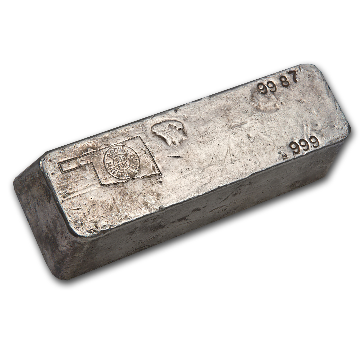 99.87 oz Silver Bars - Brown Materials