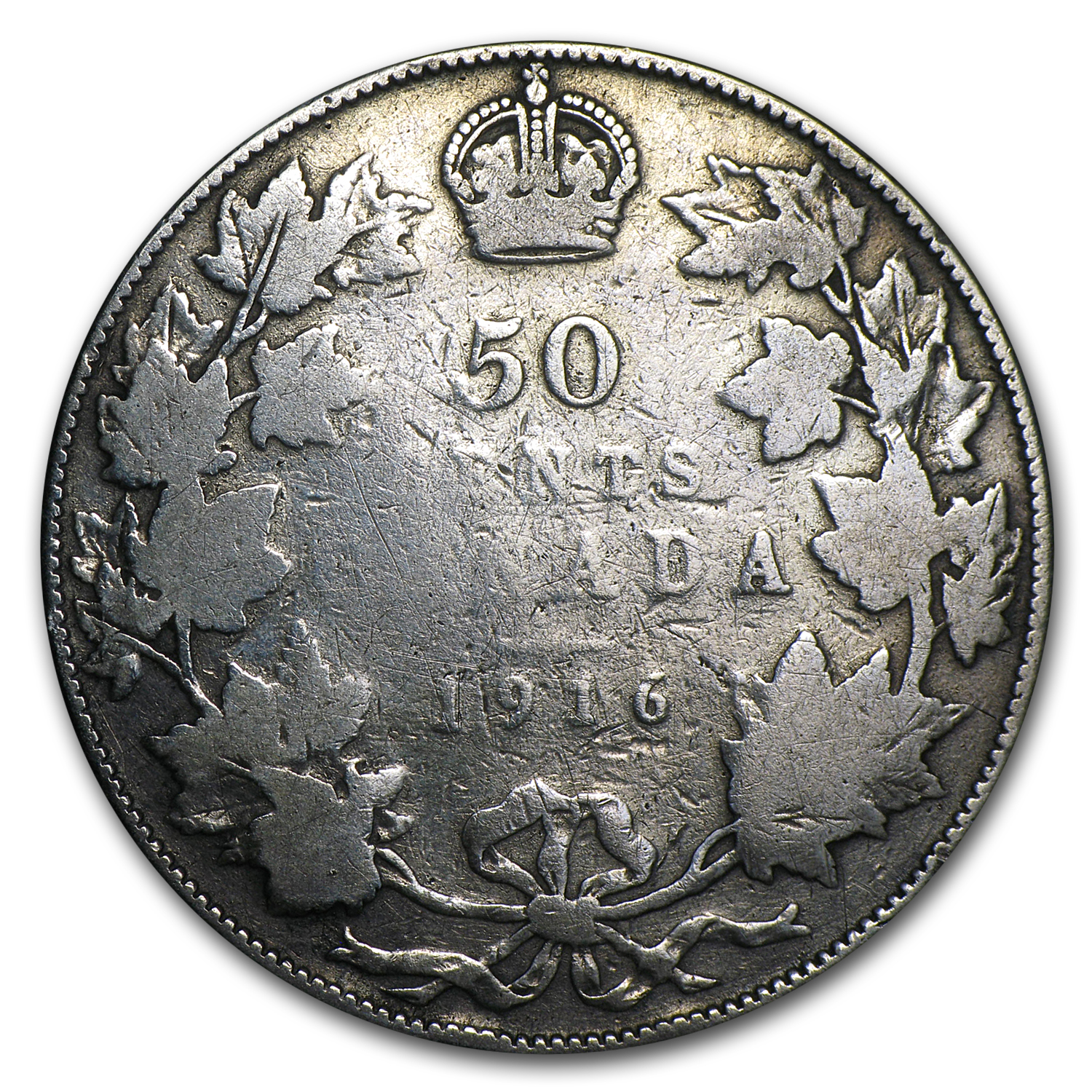 Canada 50 Cents Sterling (.925 Silver)    Avg Circ, Random Dates