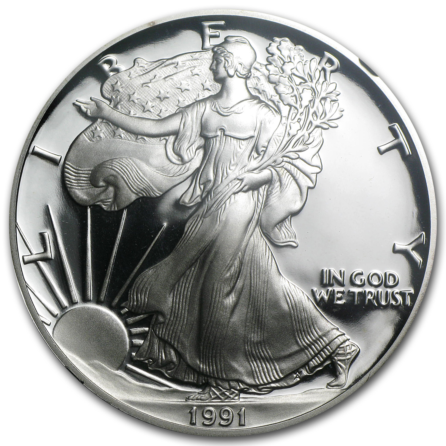 1991-S Proof Silver American Eagle PF-69 NGC (Retro Black Insert)