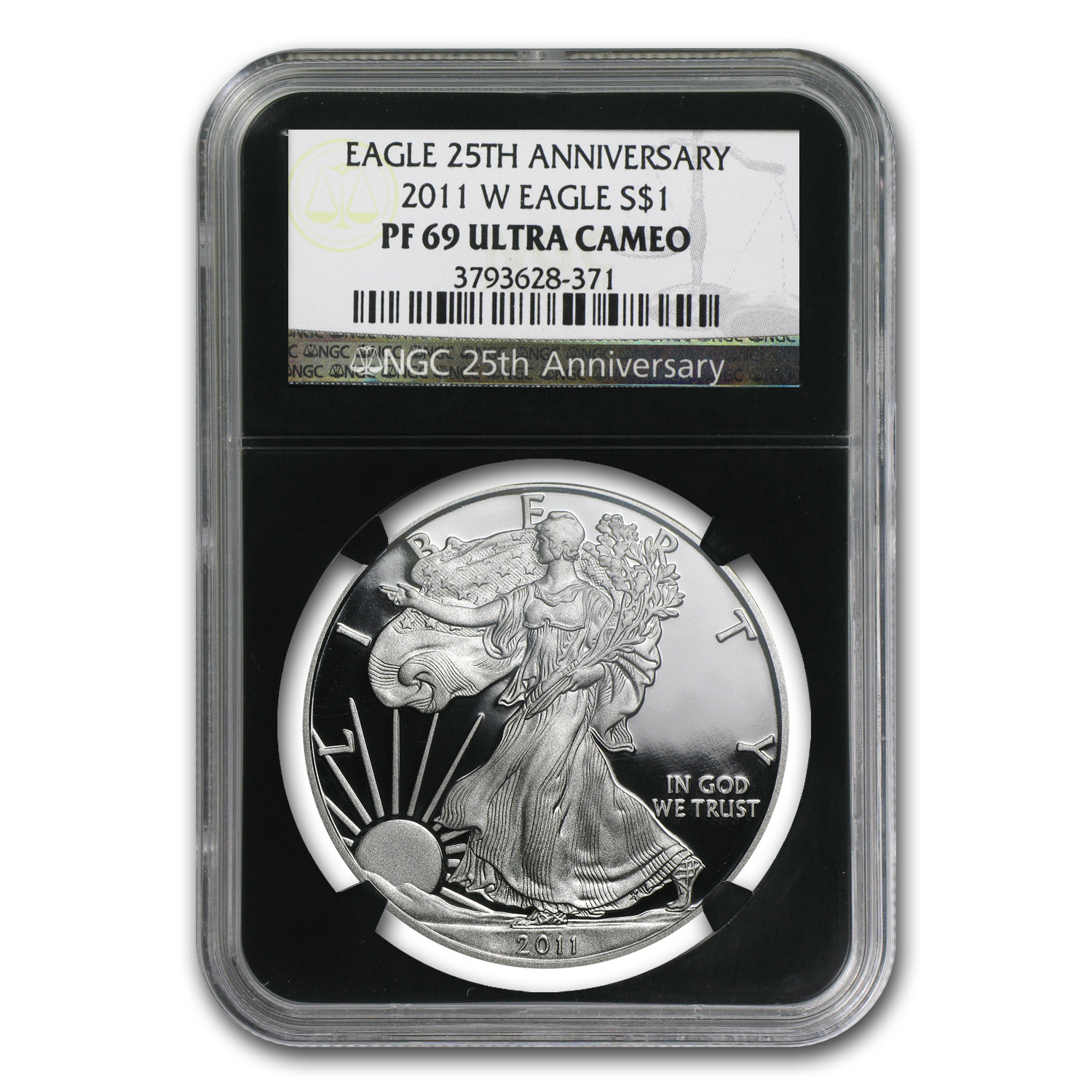 2011-W Proof Silver American Eagle PF-69 NGC (Black Insert)