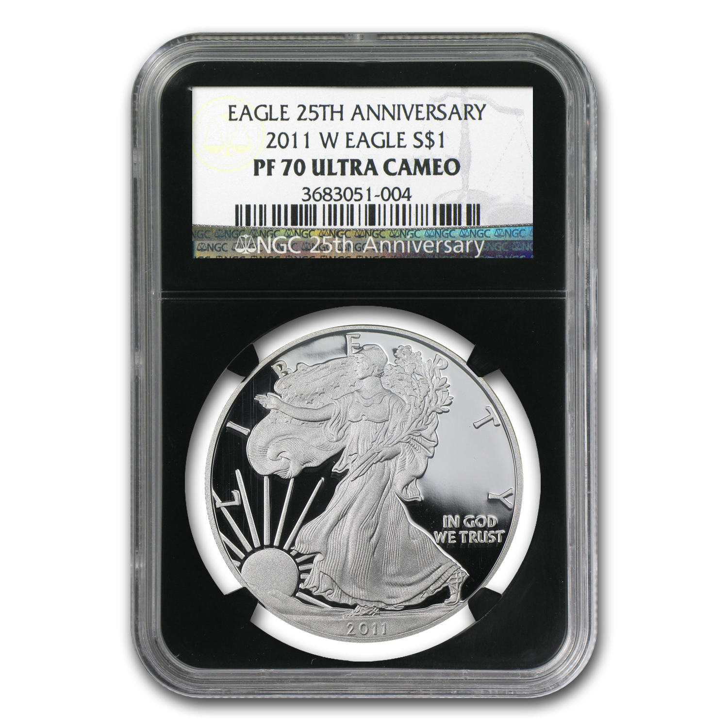 2011-W Proof Silver American Eagle PF-70 NGC (Black Insert)