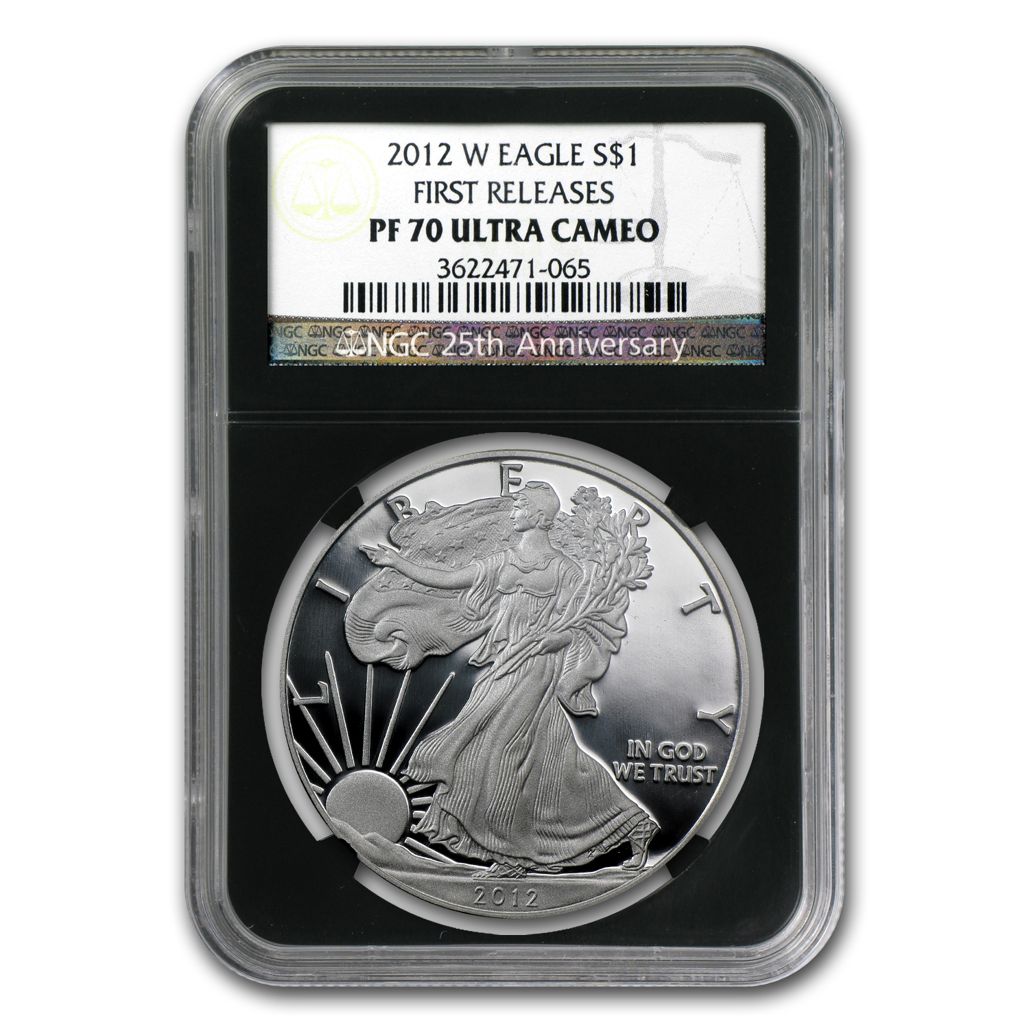 2012-W Proof Silver American Eagle PF-70 NGC (Retro Black Insert)