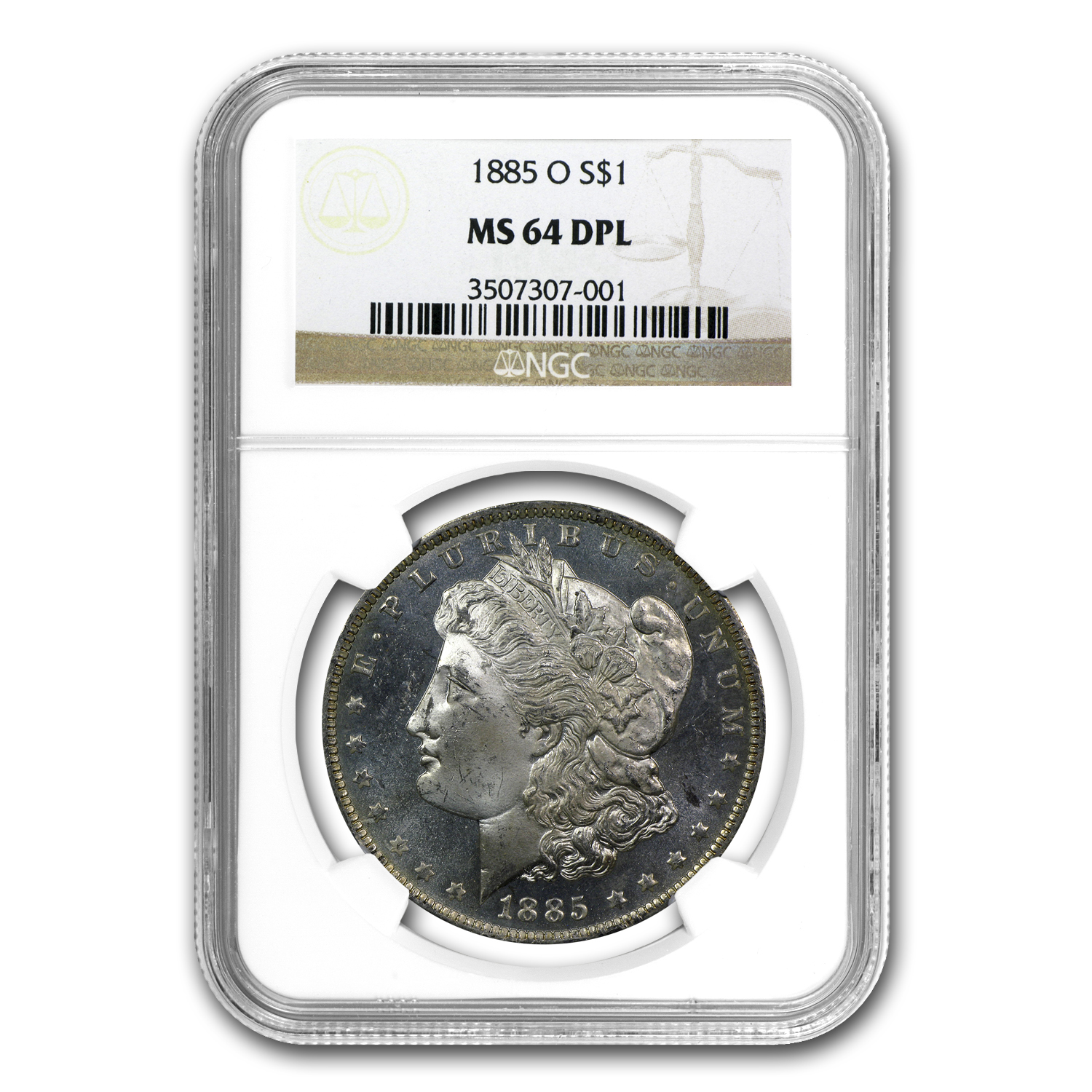 1885-O Morgan Dollar MS-64 DPL Deep Prooflike NGC