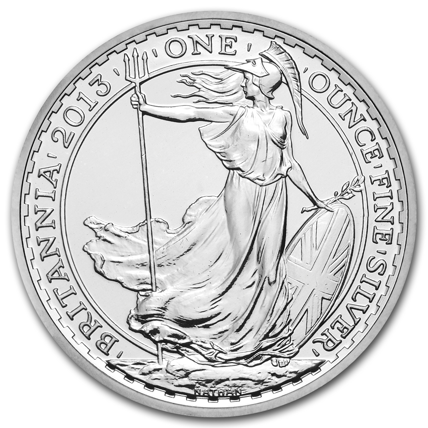 2013 Great Britain 1 oz Silver Britannia BU