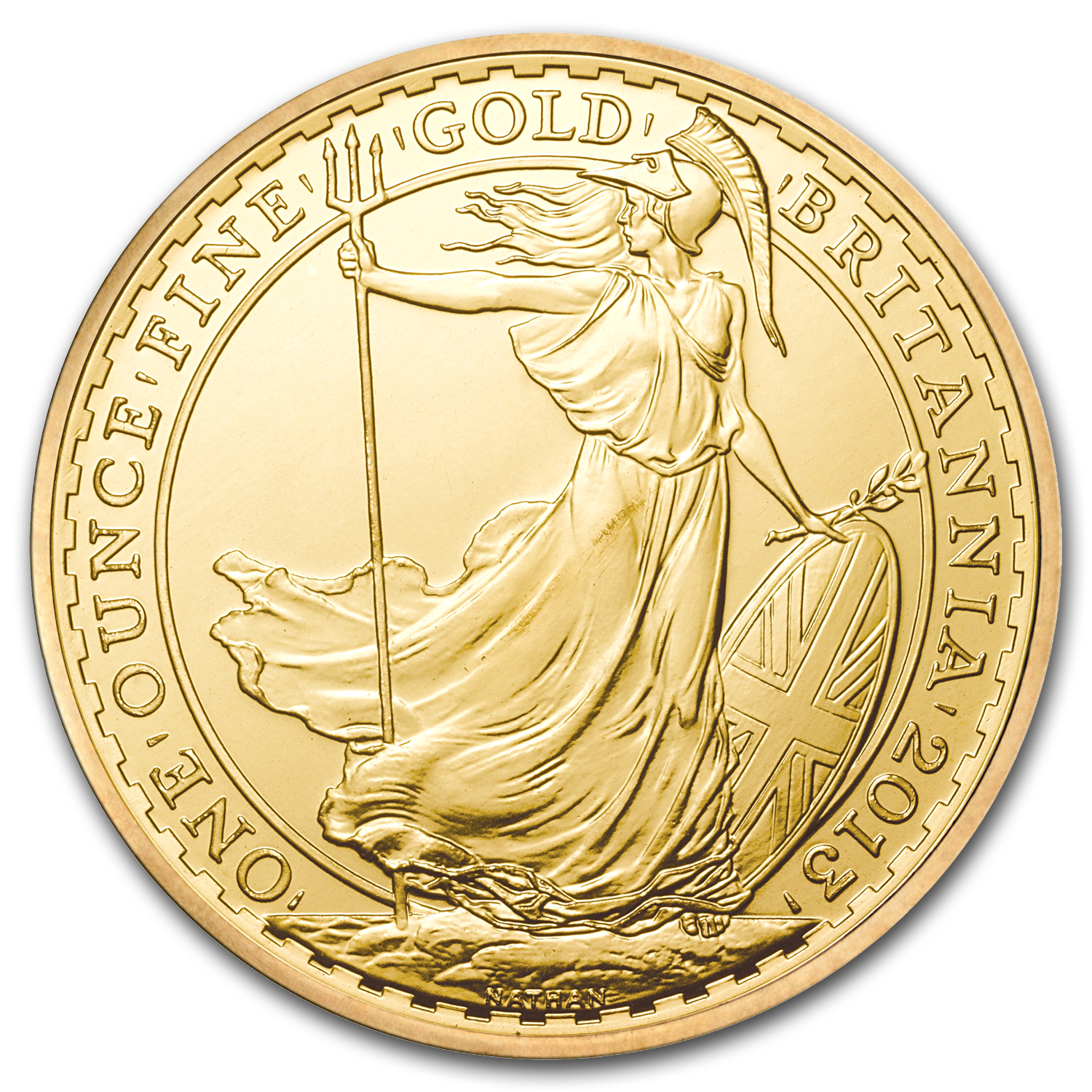 2013 Great Britain 1 oz Gold Britannia BU