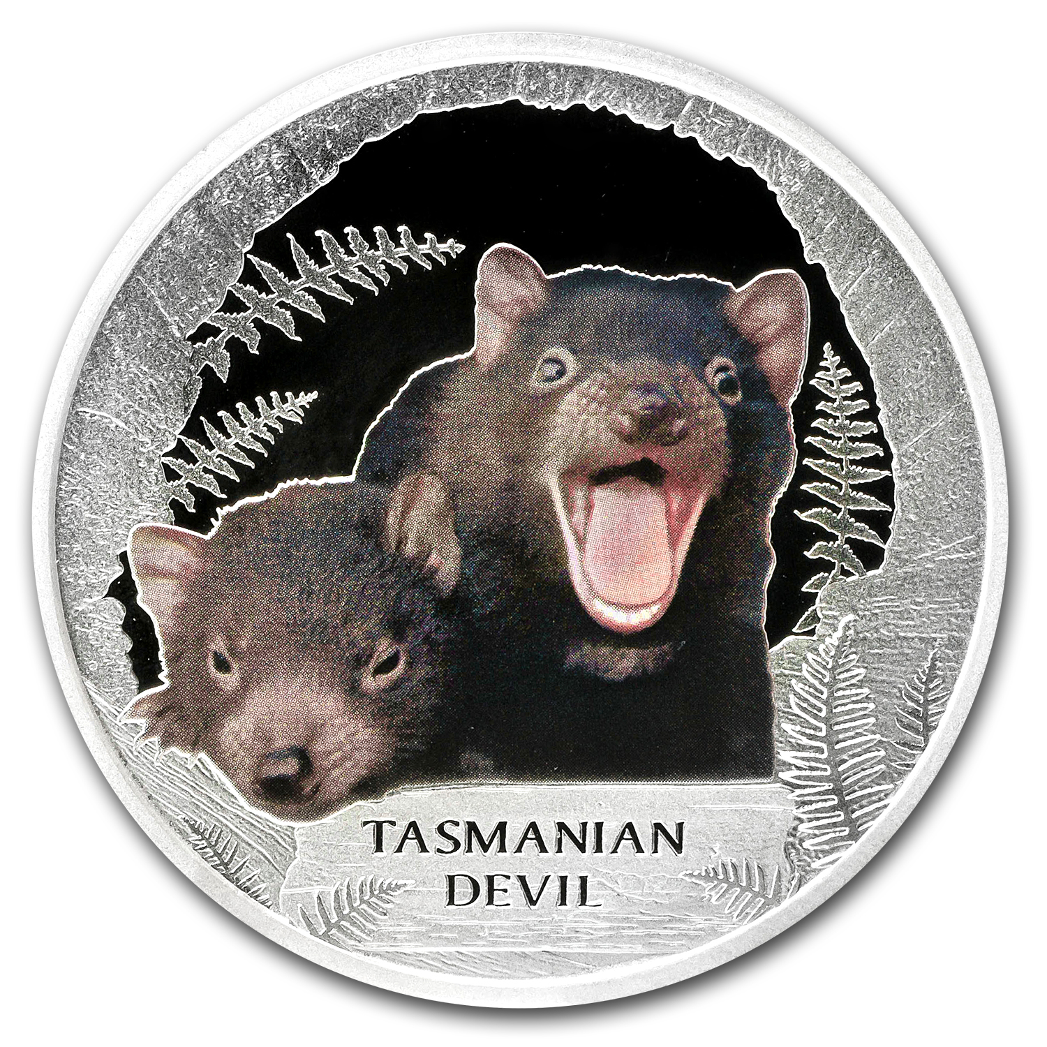 2013 Tuvalu 1 oz Silver Tasmanian Devil Proof