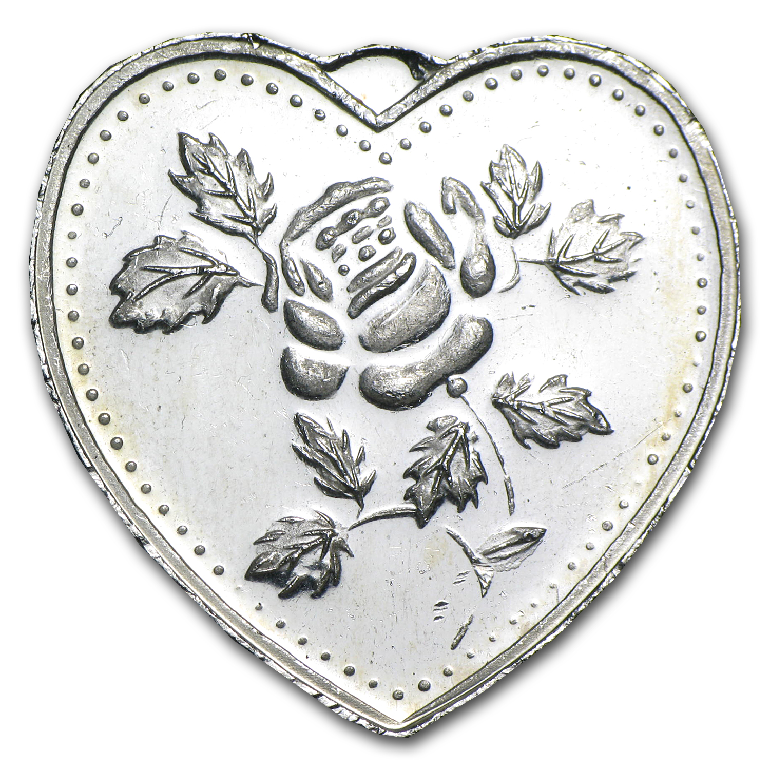 1/2 oz Silver Heart - For Someone Special (Rose)