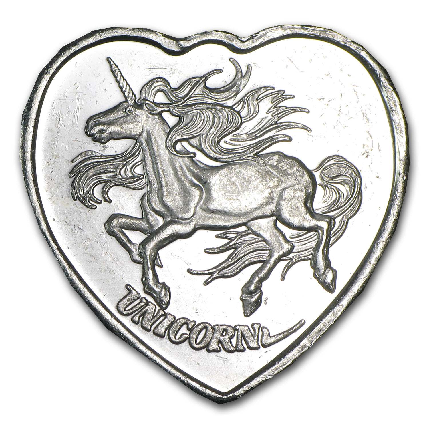 1/4 oz Silver Hearts - For Someone Special (Unicorn)