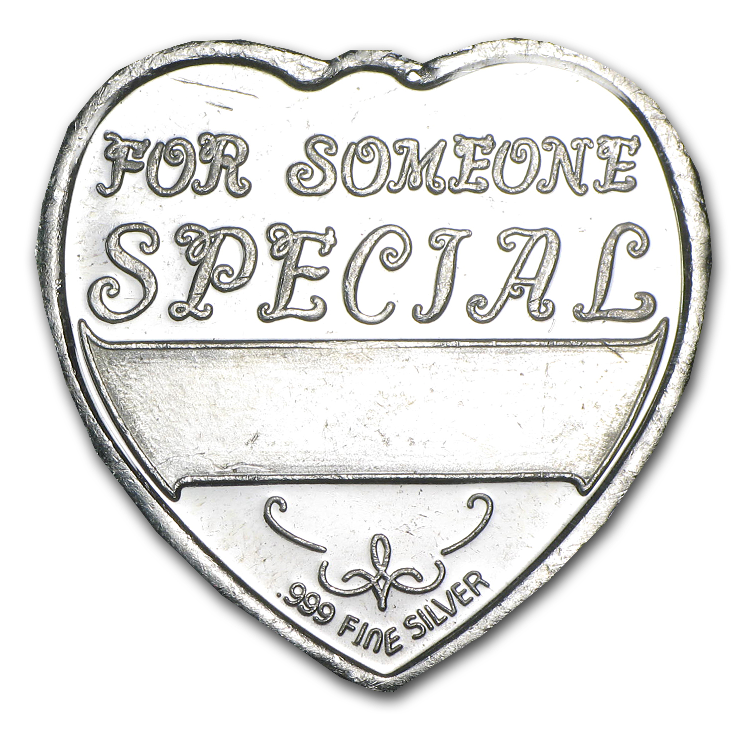 1/4 oz Silver Heart - For Someone Special (Unicorn)