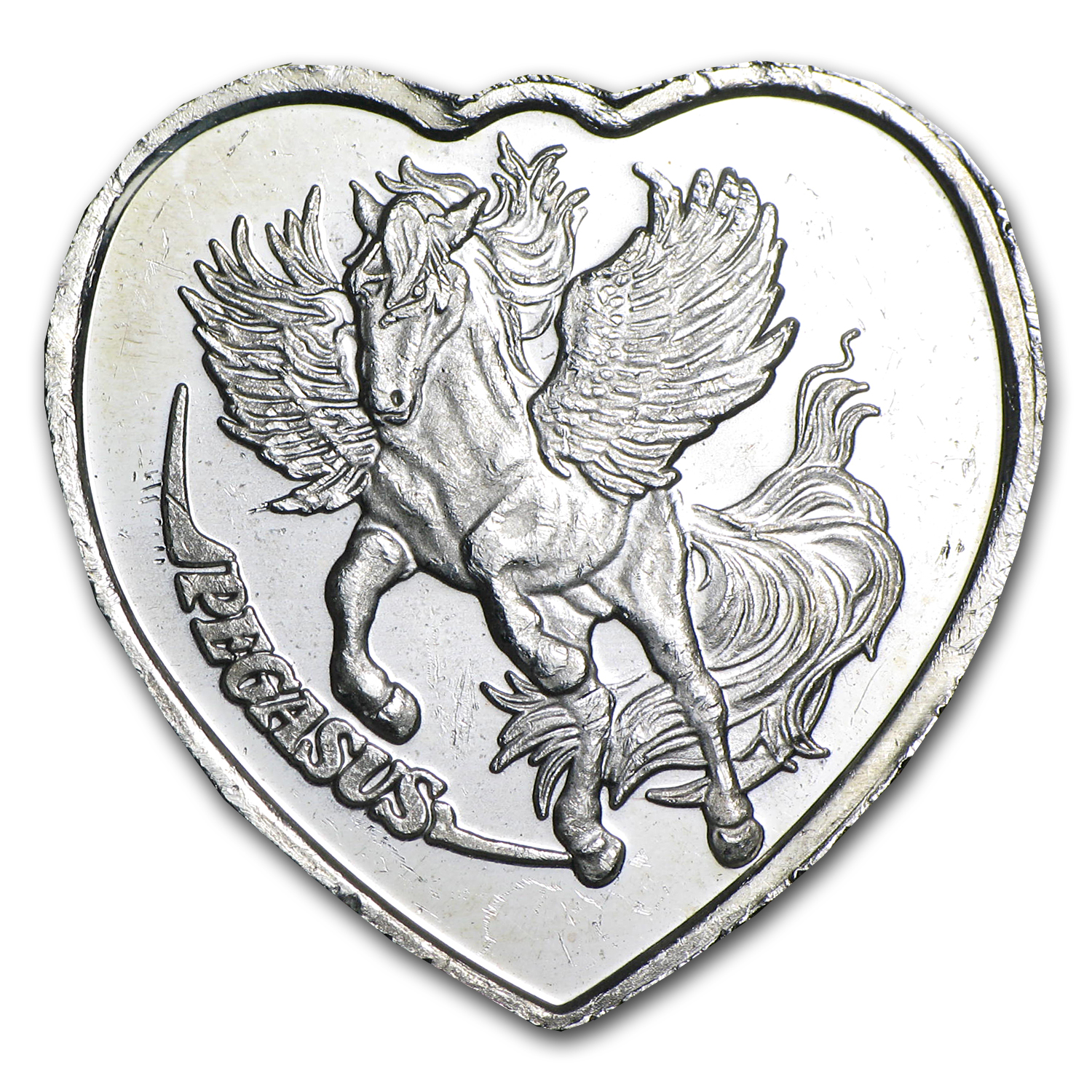 1/4 oz Silver Heart - For Someone Special (Pegasus)