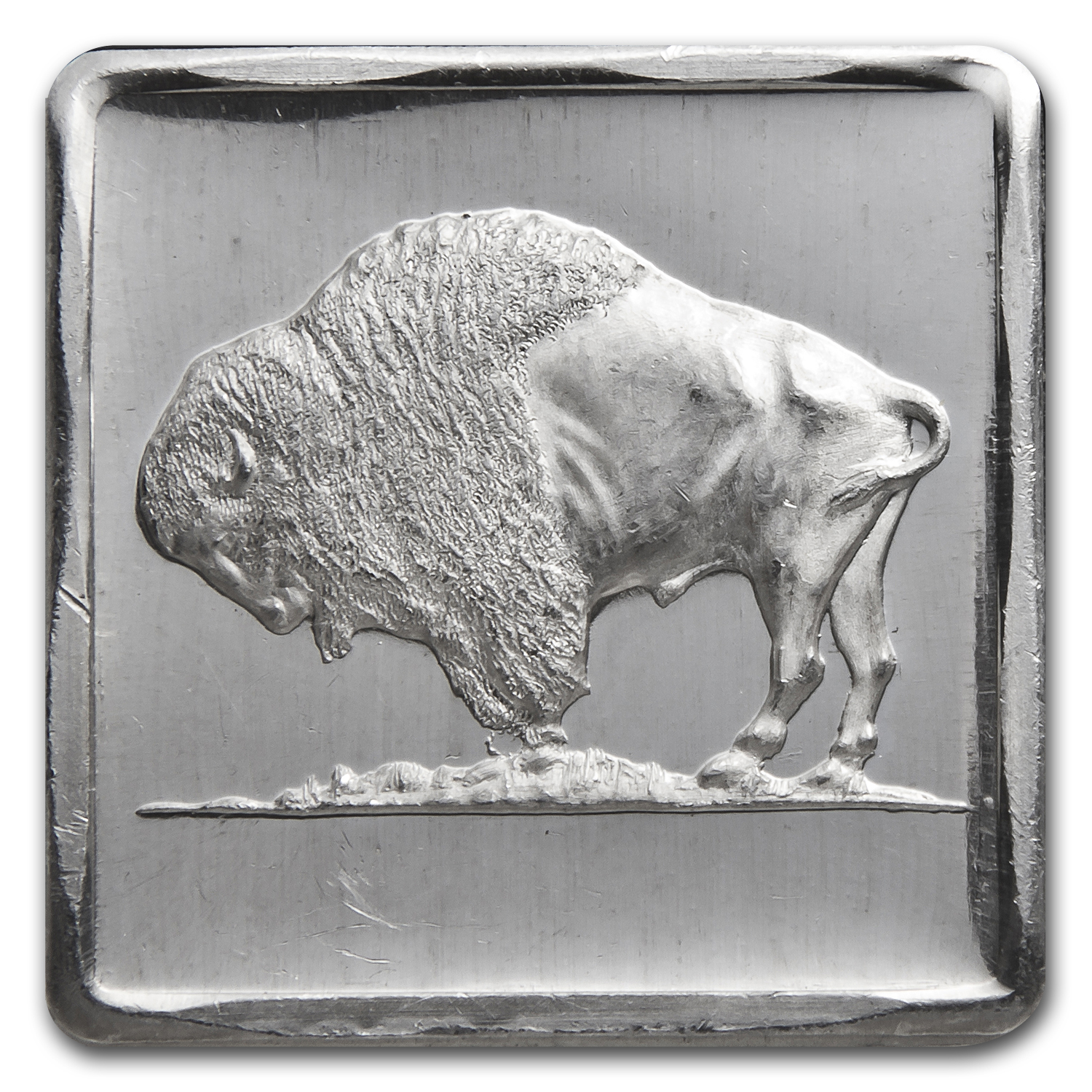 1/4 oz Silver Square - Buffalo Nickel (Reverse)