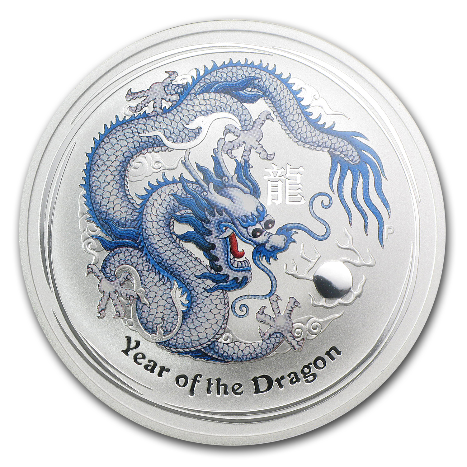 2012 1 oz Silver White Dragon (ANA Coin Show Special) NGC MS-70
