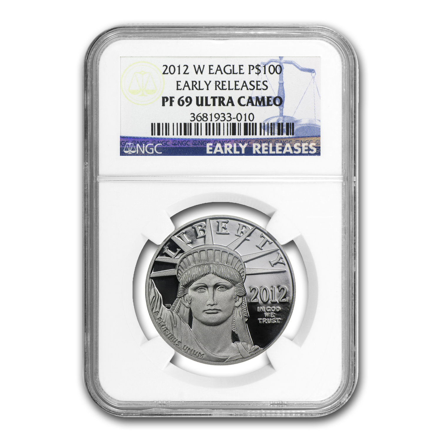2012-W 1 oz Proof Platinum American Eagle PF-69 NGC (ER)