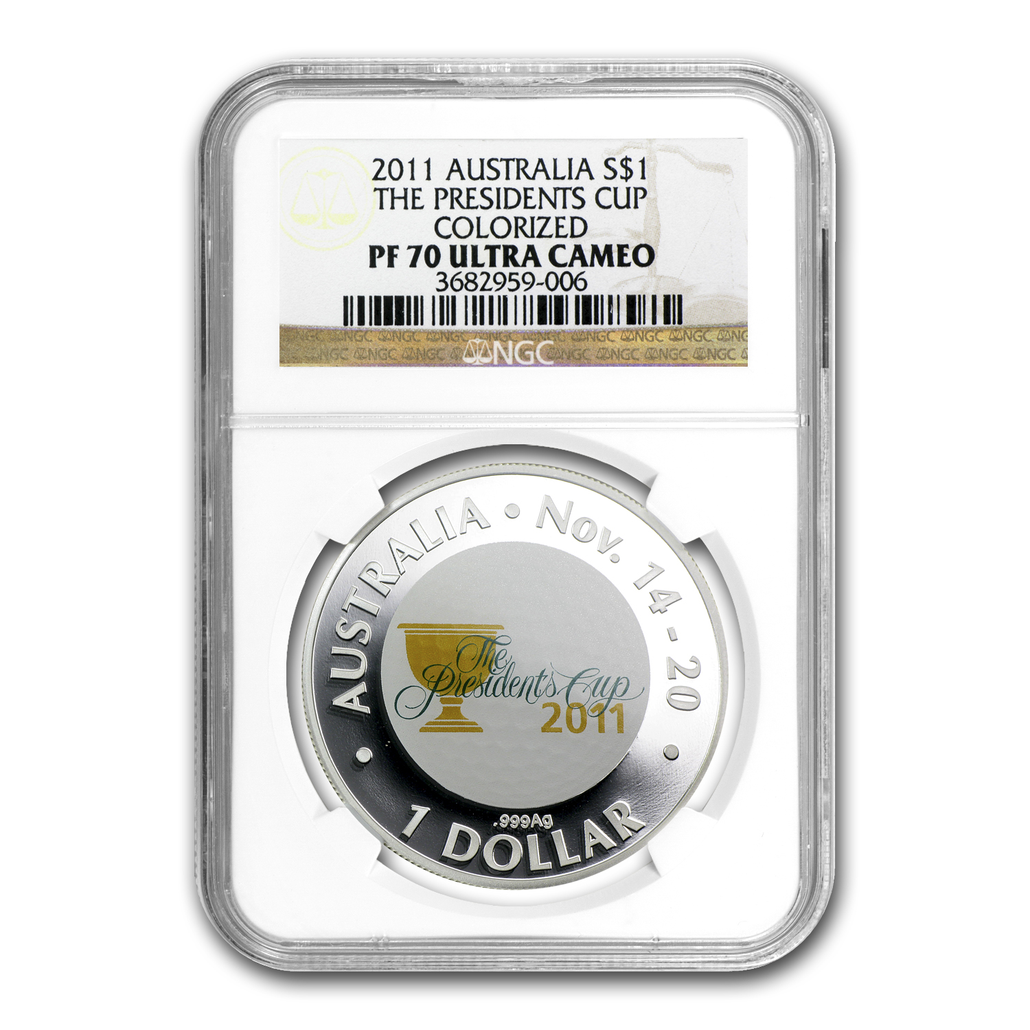 2011 Australia 1 oz Proof Silver President's Cup PF-70 NGC