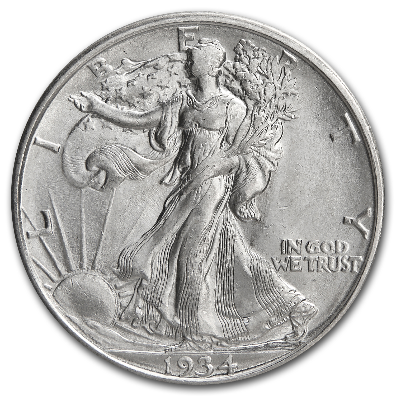 1934-D Walking Liberty Half Dollar BU