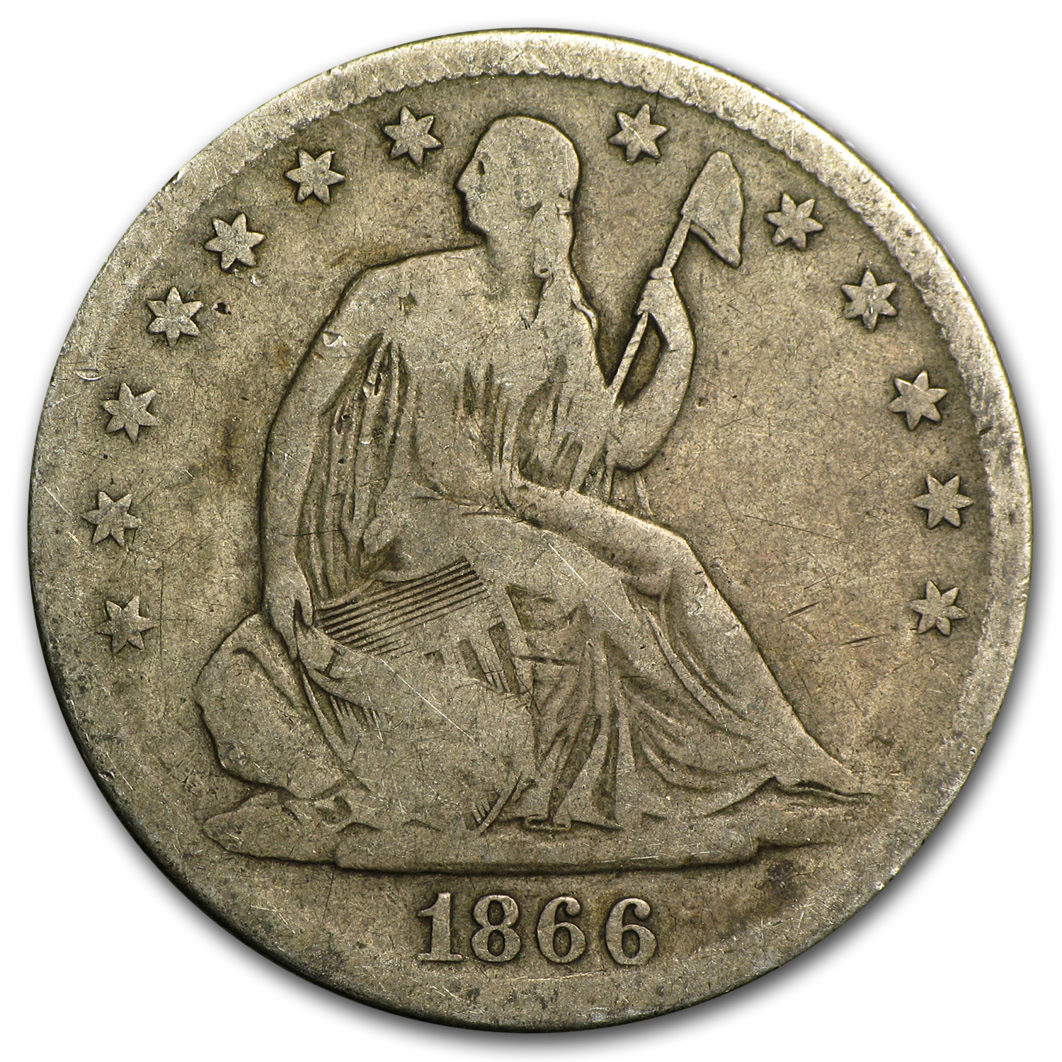 1866-S Liberty Seated Half Dollar Good
