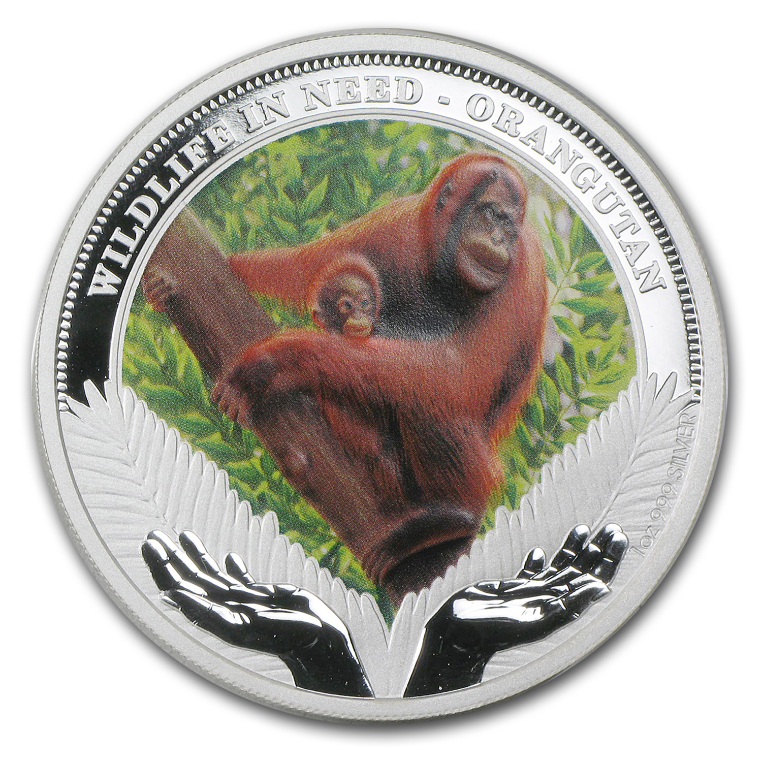 2011 Tuvalu 1 oz Silver Orangutan Proof