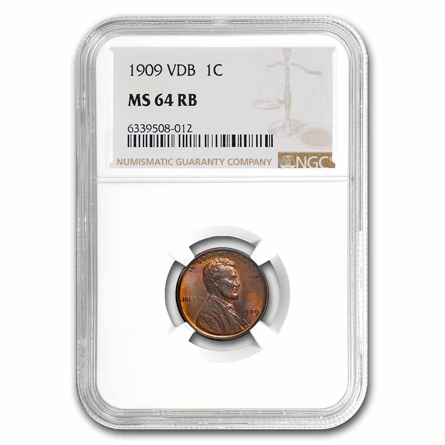 1909 VDB MS-64 Red-Brown NGC (.01)